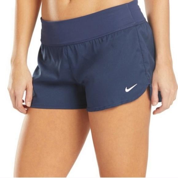 New Nike Swim Board Shorts Navy Blue Size 1X